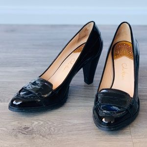 Black Patent Leather Heels 8B